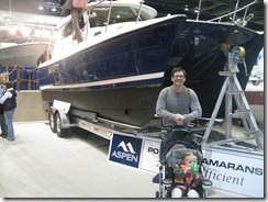 tim and ruby in front of Emotional Rescue II - boat show '10